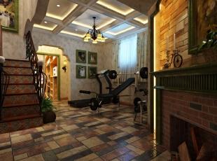 生活家装饰--八仙别墅四居220平米美式乡村地下室装修效果图图片