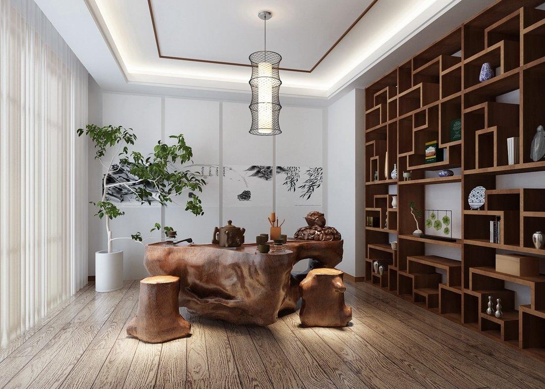 香山艺墅-500平米别墅中式风格-谷居家居装修设计效果