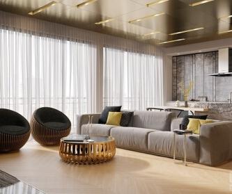 华丽质感和现代公寓设计