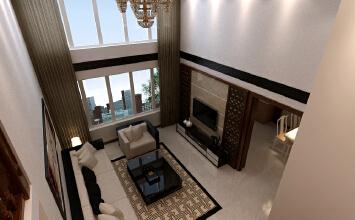 青山水恋3室2厅100平米中式风格