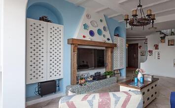 时代春树里3室2厅100平米地中海风格