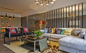 时代花园4室2厅150平米中式风格