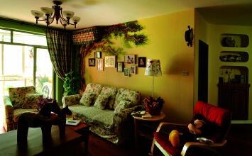 时代花园3室2厅110平米田园风格