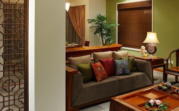 盛德紫阙3室2厅110平米中式风格