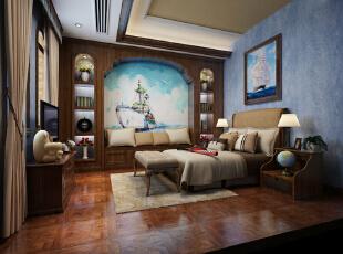 北京托斯卡纳风格温哥华森林别墅设计-谷居家居装修