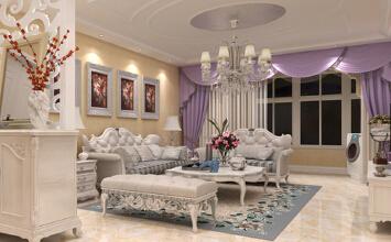 云水世纪明珠127平现代欧式风格