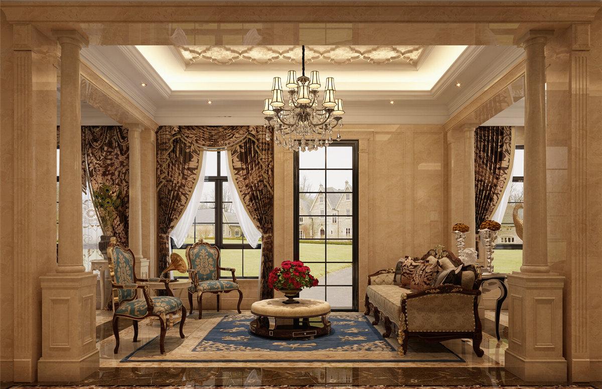 中海紫御豪庭别墅装修欧式古典风格设计方案展示