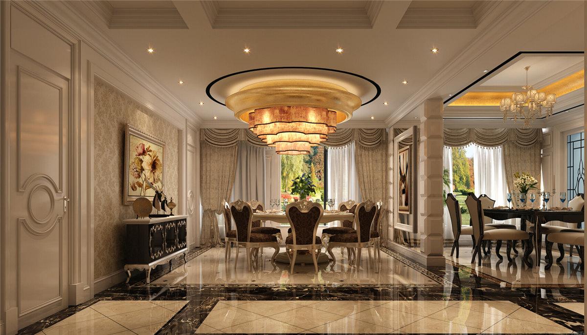 中海紫御豪庭大户型装修欧式新古典风格设计