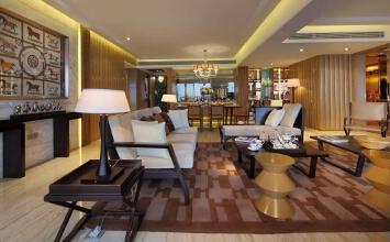 世博美域3室2厅120平米中式风格