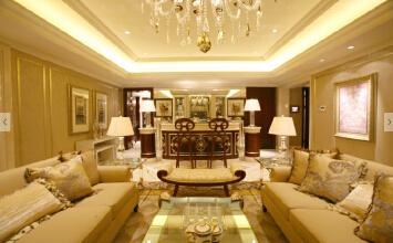 中海·河山郡3室2厅100平米欧式风格