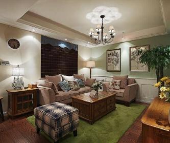 128平美式温馨三居室,...