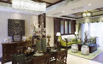 成都3居室泰式风格,不同文化的吉祥如意