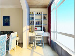 家里缺少空间做书房,你觉得阳台怎么样?