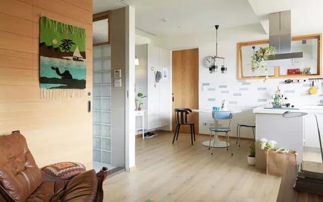 单身公寓-50平米公寓现代风格-谷居家居装修设计效果图