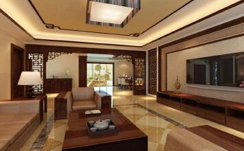 御景观城4室2厅200平米中式风格