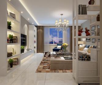 120平现代两居室