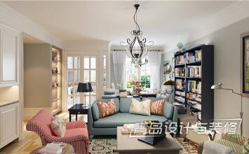 装修效果图【米罗湾】87平两居室美式风格案例