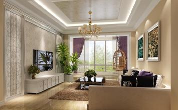 简欧风格的大气、舒适充分体现了典雅、休闲、舒适的氛围