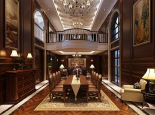 性石膏工艺装饰为主,墙面镶以柚木木板,搭配上具有款式优雅的欧式家具图片
