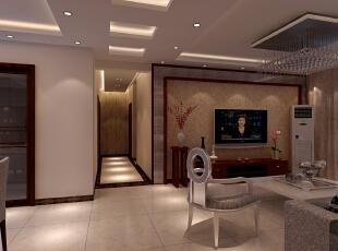 简约中式风格装修设计案例-效果图-客厅,客厅,白色,原木色,黑白,红色