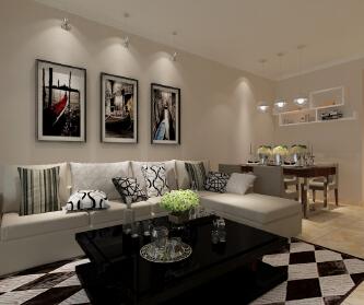 70平现代两居室