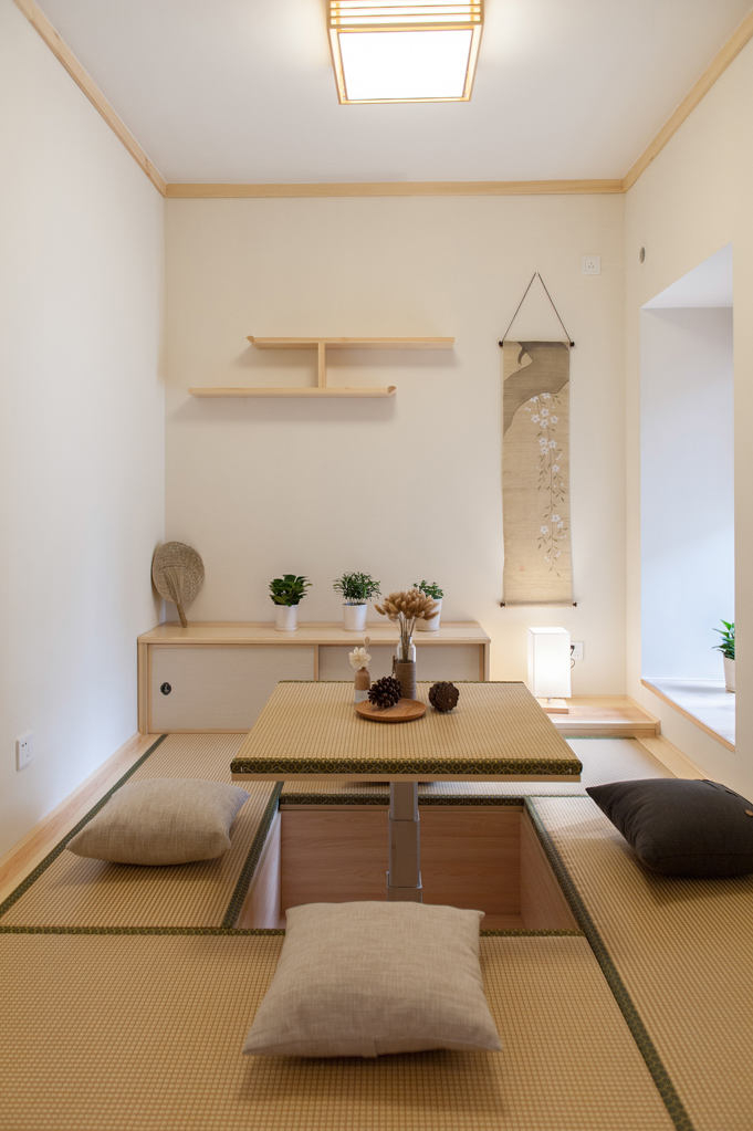 大连装修设计:100平原木色日式风格