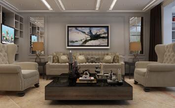 瀚唐300平5居室现代简约装修效果图