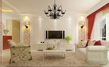 金地自在城3室2厅139平米田园风格