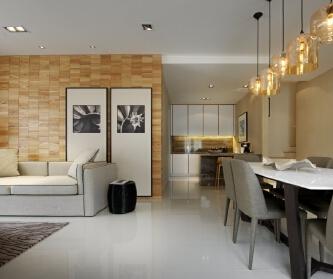 13万打造三室两厅现代简...