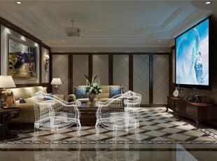 中金海棠湾别墅装修现代美式风格设计方案展示图片