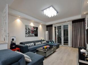 客厅,客厅,白色,黑白,窗帘,墙面,收纳,灯具,