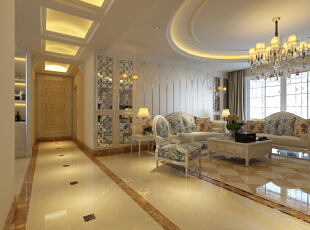 保利春天里室厅平米欧式风格