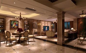 莱茵美墅别墅装修美式风格设计方案,上海腾龙别墅设计!