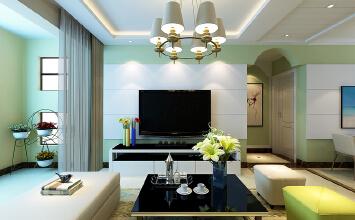 济南中铁逸都国际92平方现代简约风格装修
