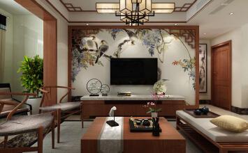 济南中铁逸都国际110平方新中式风格