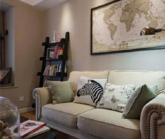 休闲美式108㎡三居室