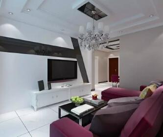 110平现代两居室
