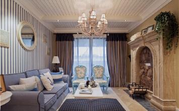 实创装饰-地中海风格设计效果图-东润泰和-160平大三居装修