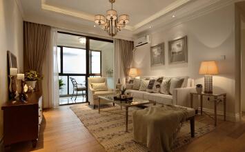 115平米打造三室两厅美式风格