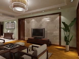 西城晶华150平米三居室新中式风格客厅装修效果图 --生活家装饰.图片