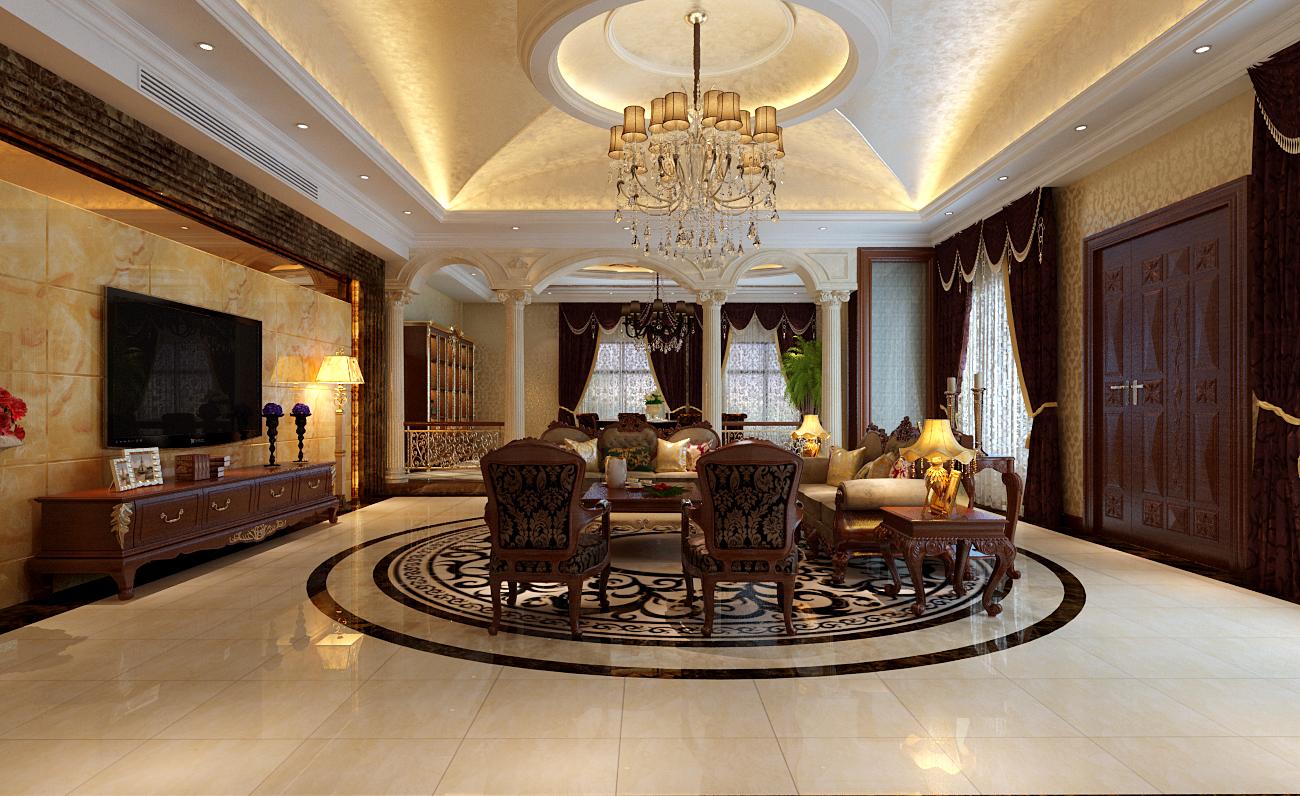 金熙府-400平米别墅欧式风格-谷居家居装修设计效果图