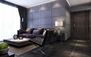 升龙又一城 88平两居室 工业风格 装修设计案例实景图