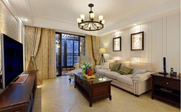 华润红叶林125平三居室混搭风格