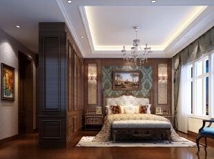 合景领峰小区联排别墅五居室简欧风格主卧装修效果图--生活家装饰图片