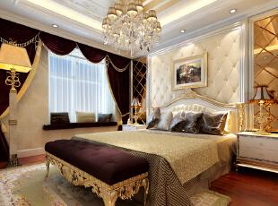 格林云墅128平米三居室简欧风格主卧装修效果图--生活家装饰,卧室图片