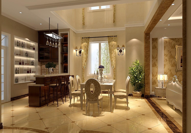 八达岭孔雀城联排欧式风格餐厅装修效果图--生活家装饰