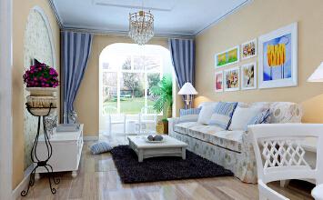 实创装饰装修设计施工 中力七里湾 90平两居室 清新田园风格