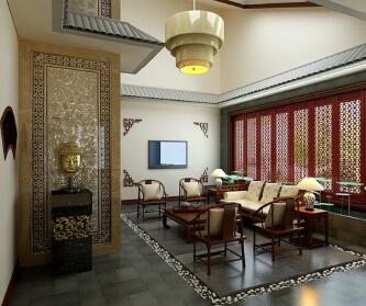 新中式别墅空间的层次...