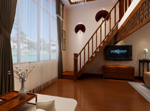 居室新中式风格卧室装修效果图 --生活家装饰,卧室,白色,原木色,窗帘图片