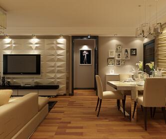 三居室现代简约风格装...